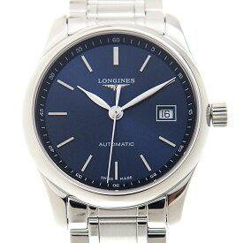 ロンジン LONGINES マスターコレクション L2.257.4.92.6 ステンレス ブルー サンレイ 自動巻き 29mm レディース腕時計