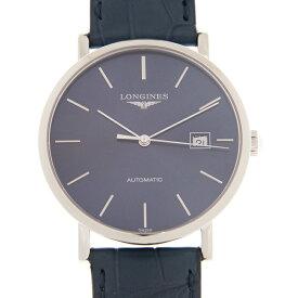 ロンジン LONGINES エレガント コレクション L4.910.4.92.2 ブルー ステンレス/ブルーレザー 自動巻き 39mm メンズ腕時計