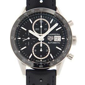 タグ・ホイヤー TAG HEUER カレラ CV201AJ.FC6357 クロノグラフ ステンレス/ブラックレザー ブラック 新文字盤 キャリバー16 自動巻き 41mm メンズ腕時計