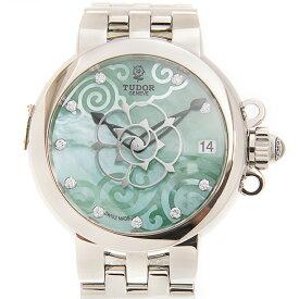 TUDOR チューダー(チュードル) クレア ド ローズ 35700-65770-NC10DI-GN 10Pダイヤ ステンレス グリーンマザーオブパール 自動巻き 34mm レディース腕時計