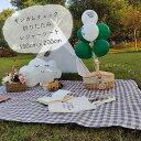 【送料無料】 折りたたみ レジャーシート ギンガムチェック ピクニック 韓国 145cm x 200cm 4人〜6人用 大判 XL 防水 …
