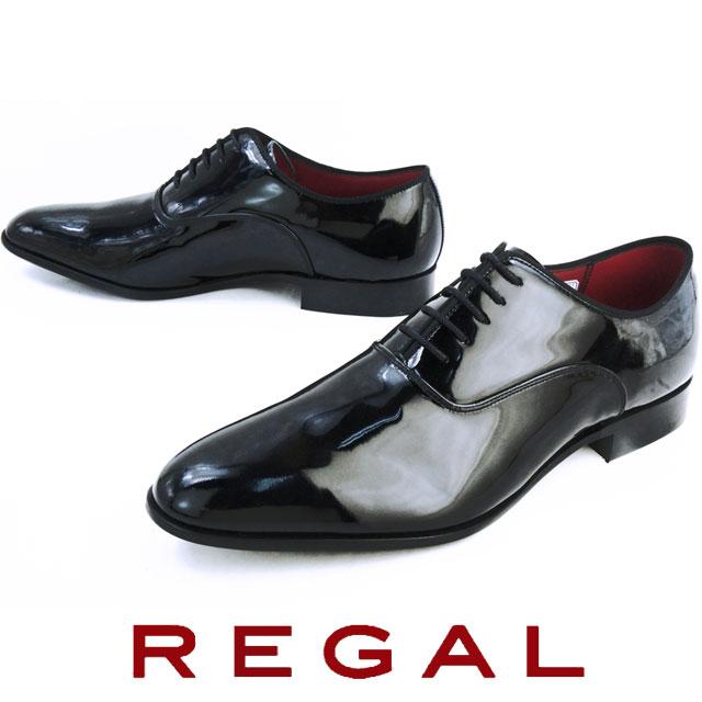 【送料無料】 リーガル メンズ 靴 426R REGAL メンズ フォーマル ビジネスシューズ プレーントゥ ドレスシューズ BLACK ブラックエナメル evid