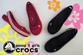 ≪選べる福袋対象商品≫ クロックス 11900 ジェンナ 2 ガールズ crocs genna II girls キッズ ジュニア アクア クロッグ サンダル カジュアル 05M(blacksmoke)・6F3(pomegranatehot pink) ab-c |3