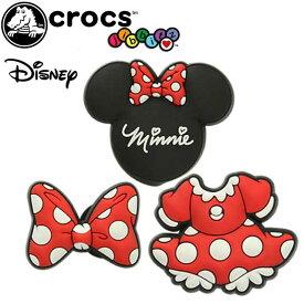 【あす楽】クロックス crocs ジビッツ jibbitz ディズニー ミニーマウス Minnie Mouse Pack ラバークロッグ用アクセサリー 3個セット Minnie F16 3PK 10006741 evid