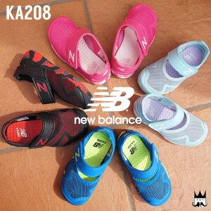 【送料無料】ニューバランス new balance 男の子 女の子 子供靴 ベビー キッズ チャイルド メリージェーン KA208 ベルクロ マジック カジュアルシューズ サマーシューズ アクアシューズ 夏 水辺