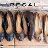 リーガルREGALレディースフラットシューズ本革レザーF60Jワイズ2E定番カッターシューズパンプスローヒールパンプス約1.5cmヒールevid