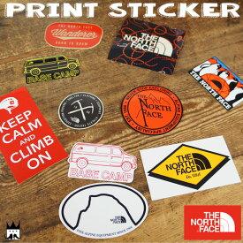 ザ・ノースフェイス THE NORTH FACE メンズ レディース ステッカー NN31710 プリントステッカー シール キャンプ アウトドア 雑貨 ペンギン アメ車 ロゴ
