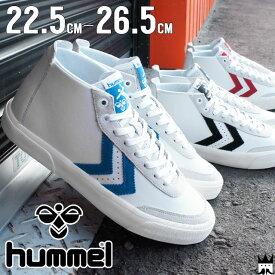 ヒュンメル hummel ストックホルム ミッド メンズ レディース スニーカー 64-432 Stockholm Mid ミッドカット カジュアルシューズ 2001 ブラック 7393 ブルー 3425 レッド evid m-sg