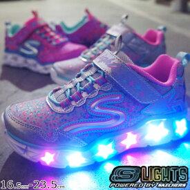【あす楽】スケッチャーズ 光る靴 SKECHERS スニーカー 女の子 子供靴 キッズ ジュニア 10920L Sライツ-ギャラクシーライツ ライトアップスニーカー evid