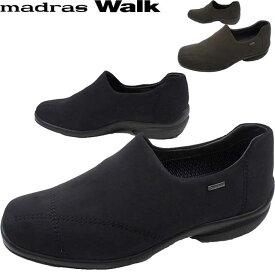 マドラスウォーク madras Walk レディース スリッポン 防水 ゴアテックス MWL2071 レインシューズ スノーシューズ 黒 ブラック ダークブラウン 幅広 3E evid
