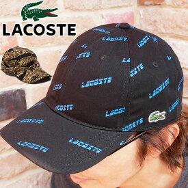 【あす楽】ラコステ LACOSTE 帽子 メンズ レディース RK3863L ライブ リップストップキャップ ベースボールキャップ パネルキャップ ぼうし コットンリップストップ マルチカラー スポーツ アウトドア サイズ調整可能 ブラック カーキ 迷彩 evid /-