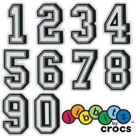 【あす楽】クロックス crocs ジビッツ B&W NUMBER キッズ メンズ レディース 数字 1〜0 ラバークロッグ用アクセサリー シューチャーム evid