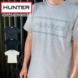 【あす楽】ハンター HUNTER オリジナル ロゴ Tシャツ メンズ MRJ4067JAS 半袖 トップス カットソー 綿 コットン100% ラウンドネック 丸首 ブラック ホワイト ネイビー evid