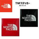 【あす楽】ザ・ノースフェイス THE NORTH FACE メンズ レディース TNFステッカー NN9719 ロゴシール 小 ブラック レッ…