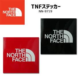 ザ・ノースフェイス THE NORTH FACE メンズ レディース TNFステッカー NN9719 ロゴシール 小 ブラック レッド BLACK RED アウトドア キャンプ 雑貨 evid