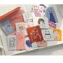 【楽天スーパーSALE応援♪】韓国風 おしゃれ 手描きイラスト風 (s11) ステッカー 60枚入り 大きめ カフェ 雑貨屋 手描…
