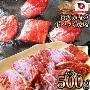 牛 ハラミ 焼肉(サガリ)500g(250g×2P)牛肉 メガ盛り (*当日発送対象) 赤身 贅沢 おトク お徳用 送料無料 アメリカ産 あす楽 肉 通販 お取り寄せ グルメ アウトドア お家焼肉 レジャー 送