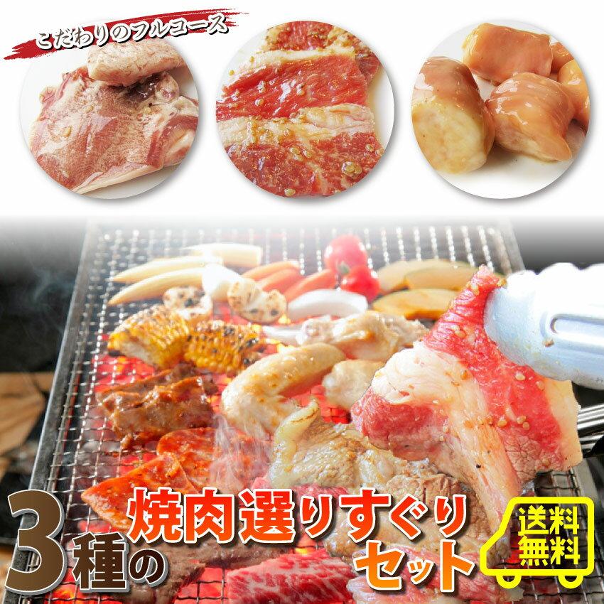 【送料無料】焼肉よりすぐりセット!買えば買うほどオマケ付き( 焼肉 ホルモン マルチョウ カルビ タン オマケ 漬け )