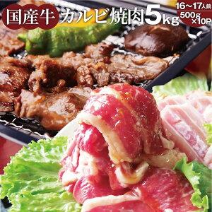カルビ 焼肉 たっぷり メガ盛り 5kg牛肉 カルビ 味付 タレ漬 国産 国産牛 味付 バラ 焼肉用 焼き肉 アウトドア お家焼肉 レジャー 送料無料 バーベキュー 肉 食材 セット バーベキューセット BB