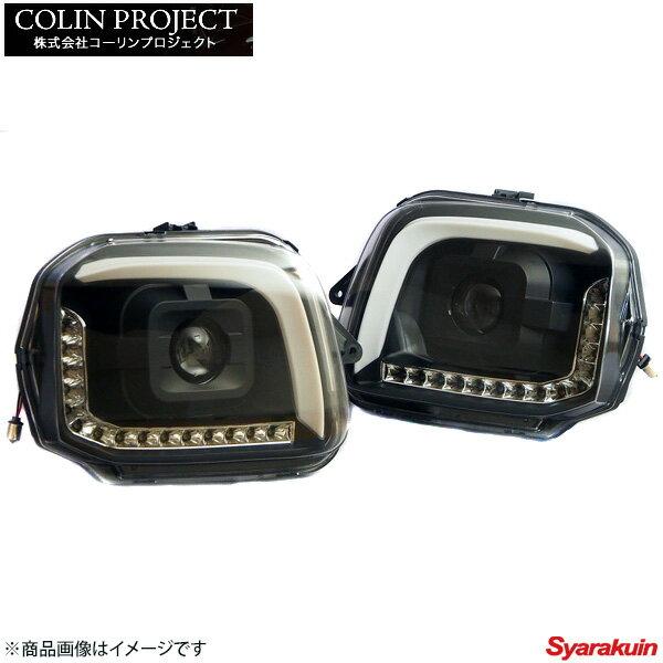 コーリンプロジェクト MBRO / エムブロ サンダー ヘッドライト カラー: ブラック ジムニー JB23W 流れるウインカー SHJBJIMY-2LSW-CB-04