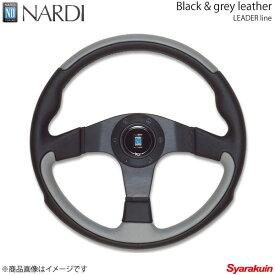 NARDI ナルディ LEADER(リーダー) ブラック/グレーレザー&ブラックスポーク 直径350mm N802