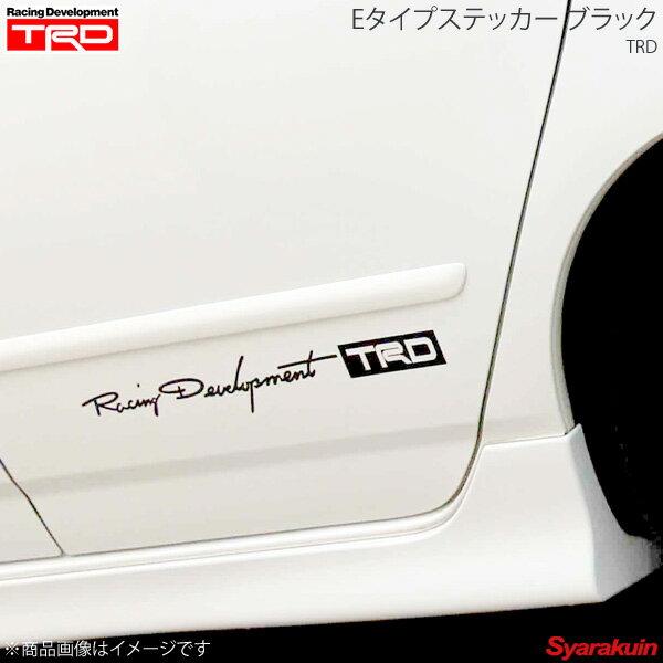 TRD ティー・アール・ディー Eタイプステッカー 大 ブラック 86 ZN6