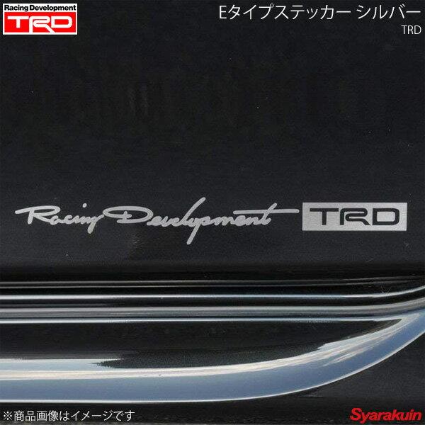 TRD ティー・アール・ディー Eタイプステッカー 大 シルバー 86 ZN6