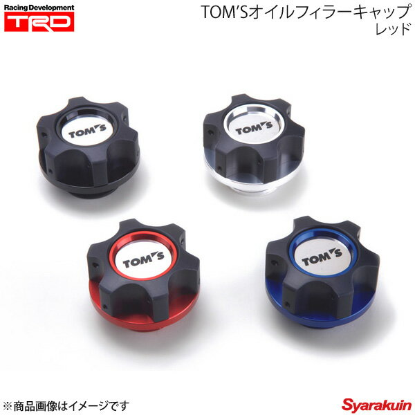 TRD ティー・アール・ディー TOM'S オイルフィラーキャップ レッド プリウス ZVW50/ZVW51/ZVW55
