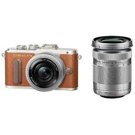 PEN E-PL8 EZダブルズームキット ブラウン ◆ オリンパス ミラーレス一眼カメラ OLYMPUS