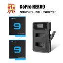 【11/2〜出荷 保護フィルムプレゼント】GoPro HERO9 black 専用 SYH SHOPオリジナル互換バッテリー2個(保護ケース入…