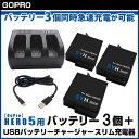 【GoPro】GoPro HERO5 ver2.00、ver1.57、ver1.55、ver1.50対応 SYH SHOPオリジナル互換バッテリー3個(保護ケー...