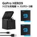 【あす楽対応】GoPro HERO9 black 専用 SYH SHOPオリジナル互換バッテリー2個(保護ケース入り)+BOX型 USBトリプル…