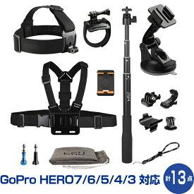 GoProを100%使いこなすためのパーフェクトセット GoPro HERO7 HERO6 HERO5 HERO4 HERO3+ HERO3 HERO2 DJI Osmo Action 対応 大人気モノポッド+アクセサリーキット マウントセット 自撮り棒 セルカ棒 S4