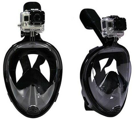 【GoPro】GoPro HERO7 HERO6 HERO5 HERO4 HERO3 HERO3+ Gopro session SJ5000 対応 180°シュノーケルマスク スキューバダイビングマスク フルフェイス型 シュノーケリングマスク マスク