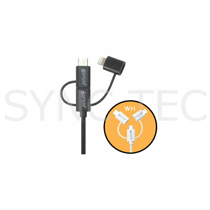 iSimple IS9406BK ipod / iphone ライトニングコネクタ対応 3way USB 充電ケーブル ブラック isimple is9406bk (65)