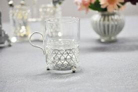 シルバー ティーグラス ANTIQUE ティーカップ イギリス製 QUEEN ANNE (クイーンアン) ガラス 耐熱ガラス 食器 キッチン雑貨
