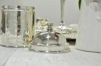 シルバーティーキャニスターサ−クル茶筒茶葉入れティータイムテーブルキッチン雑貨イギリス製