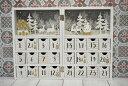 ブック型 アドベントカレンダー 木製 ホワイト 折り畳み式 クリスマス 飾り 置物 かわいい 北欧