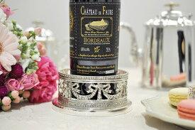 シルバー ボトルコ−スタ− リボン ワイン イタリア製 Royal Family ロイヤルファミリー テーブル キッチン雑貨