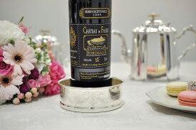 シルバー ボトルコ−スタ− マホガニー ワイン イタリア製 Royal Family ロイヤルファミリー テーブル キッチン雑貨