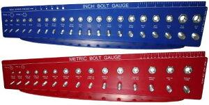 計測工具 ボルトゲージ インチ/ミリ ねじ山 ナット 留め金具 サイズ確認