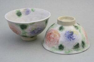 日本製 一珍バラ園 組飯碗(2色セット) 2個セット お椀 お茶碗 花柄 国産 おしゃれ かわいい 贈り物 ギフト プレゼント レトロ 母の日 敬老の日
