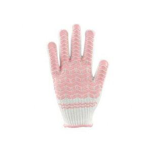 勝星産業 ゴムライナーピンク(女性用) 薄手タイプ サイズ:M #004 手袋 滑りにくい すべり止め 作業用手袋 ゴム手袋 現場作業