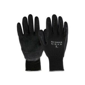 勝星産業 ラバーグラブ(背ヌキ加工) 薄手タイプ 5双組 サイズ:L 黒 #670L 作業用手袋 すべり止め 滑りにくい ゴム手袋 通気性 蒸れにくい 背抜き