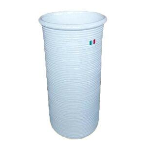 送料無料 イタリア製 陶器かさ立て 傘立て アンブレラスタンド スリム ホワイト アンブレララック かさたて 傘たて 傘入れ 円柱 円筒 玄関 アンティーク クラシック インテリア おしゃれ 敬