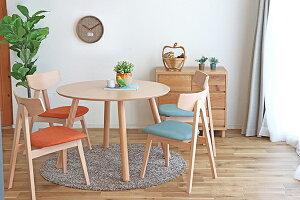 ダイニングテーブル単品 4人掛け 4人用 机 食卓テーブル 幅100cm ラウンドテーブル 丸テーブル 木製 ビーチ無垢 机 食卓テーブル 作業台 リビング 北欧 おしゃれ ミッドセンチュリー 高級感