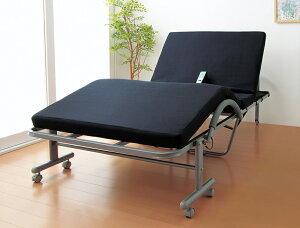 電動リクライニングベッド セミダブル 立ち座り楽ちん低反発メッシユ仕様収納式 無段階電動 体圧吸収 体圧分散 介護 リハビリ 介助 キャスター付き 角度自在 敬老の日 高齢者 お年寄り SDサ