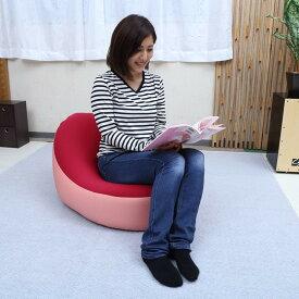 送料無料 国産 ビーズクッションオーバリー キュート おしゃれ コンパクト ソファー 1人掛け 1人用 フロア シンプル 日本製