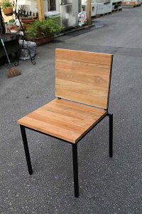 アイアンウッドアームレスチェア 木製 チーク ガーデンチェアー 1人掛け いす 椅子 ひとりがけ チェア テラス カフェ おしゃれ モダン レトロ 高級感