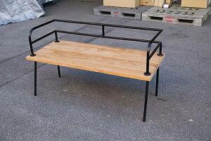 アイアンフレームベンチ アイアン 木製 ガーデンチェアー ガーデンベンチ 長椅子 イス チェア チェアー 椅子 おしゃれ アンティーク モダン レトロ